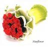 꽃다발 장미원형주름