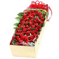장미50송이 꽃상자
