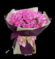 아쿠아장미100송이 꽃다발