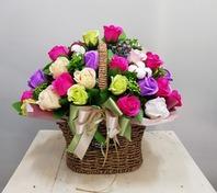 파스텔 비누꽃바구니 (택배상품)