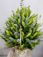 백합꽃바구니